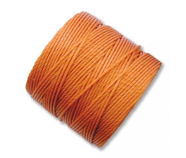 S-Lon Regular Tex 210 Bead Cord (0.5mm), Rust Orange, 77 Yard Spool