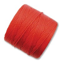 S-Lon Regular Tex 210 Bead Cord (0.5mm), Chinese Red, 77 Yard Spool