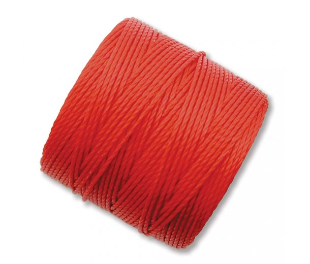 S-Lon Regular Tex 210 Bead Cord (0.5mm), Chinese Red, 77 Yard Spool