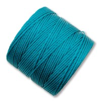 S-Lon Regular Tex 210 Bead Cord (0.5mm), Teal, 77 Yard Spool