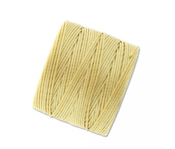 S-Lon Regular Tex 210 Bead Cord (0.5mm), Wheat Yellow, 77 Yard Spool