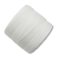 S-Lon Regular Tex 210 Bead Cord (0.5mm), White, 77 Yard Spool