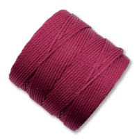 S-Lon Regular Tex 210 Bead Cord (0.5mm), Dark Fuchsia, 77 Yard Spool