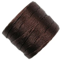 S-Lon Regular Tex 210 Bead Cord (0.5mm), Wine Brown, 77 Yard Spool