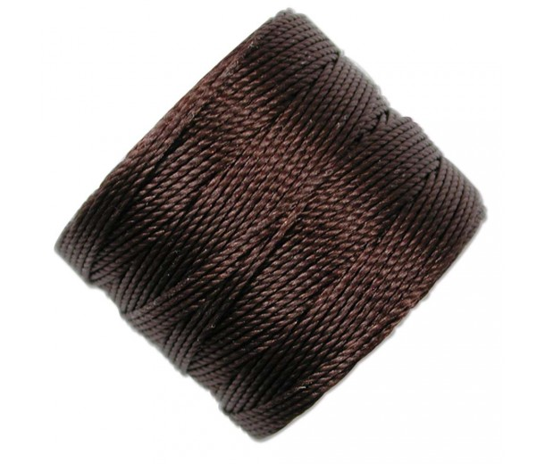 S-Lon Regular Tex 210 Bead Cord (0.5mm), Wine Brown, 77 Yard Spool
