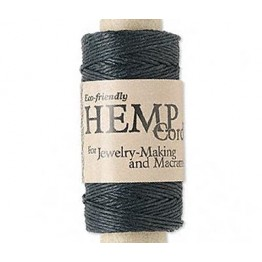 0.5mm Black Natural Hemp Cord by Hemptique