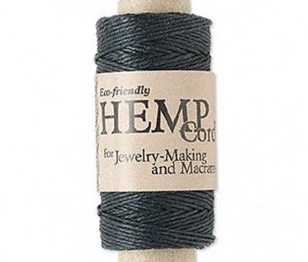 1.5mm Black Polished Hemp Cord by Hemptique