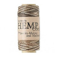 0.5mm Brown Mix Natural Hemp Cord by Hemptique