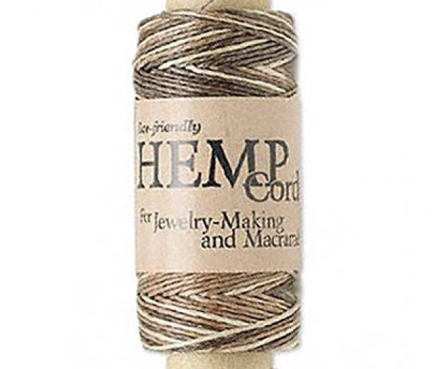 0.5mm Brown Mix Natural Hemp Cord by Hemptique, 100 Ft Spool