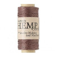 -0.5mm Dark Brown Natural Hemp Cord by Hemptique, 100 Ft Spool