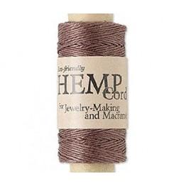 0.5mm Dark Brown Natural Hemp Cord by Hemptique