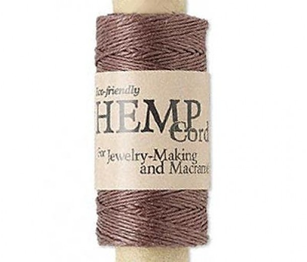 0.5mm Dark Brown Natural Hemp Cord by Hemptique, 100 Ft Spool