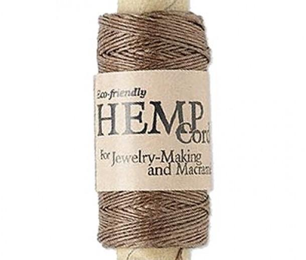 0.5mm Light Brown Natural Hemp Cord by Hemptique, 100 Ft Spool