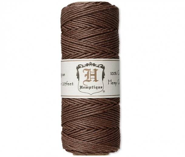 1mm Dark Brown Polished Hemp Cord by Hemptique