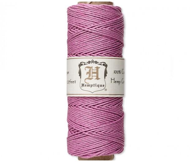1mm Light Pink Polished Hemp Cord by Hemptique