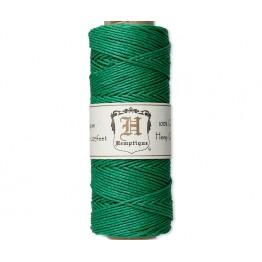 1mm Green Polished Hemp Cord by Hemptique