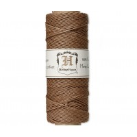 1mm Light Brown Polished Hemp Cord by Hemptique