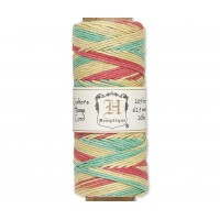1mm Multicolor Rasta Polished Hemp Cord by Hemptique