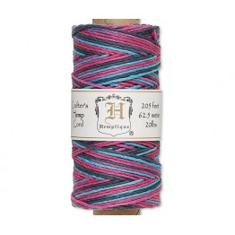 1mm Multicolor Party Polished Hemp Cord by Hemptique