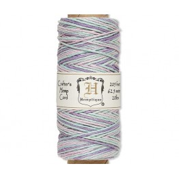 1mm Multicolor Pastel Polished Hemp Cord by Hemptique