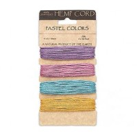 1mm Pastel Mix Multicolor Set Hemp Cord by Hemptique