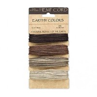 1mm Earthy Mix Multicolor Set Hemp Cord by Hemptique