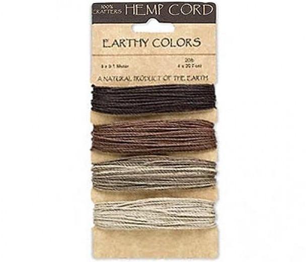 1mm Earthy Mix Multicolor Set Hemp Cord by Hemptique