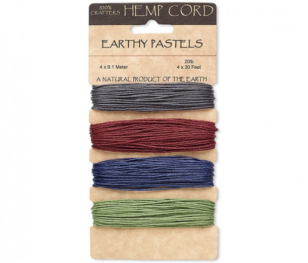 1mm Dark Mix Multicolor Set Hemp Cord by Hemptique