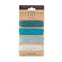 1mm Aqua Blue Multicolor Set Hemp Cord by Hemptique