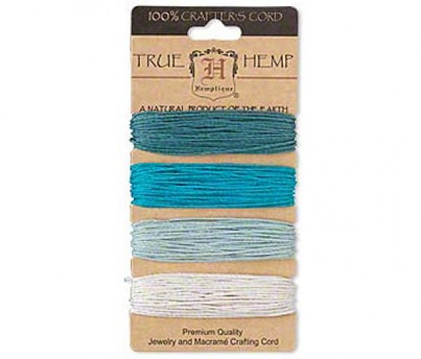 1mm Aqua Blue Multicolor Set Hemp Cord by Hemptique