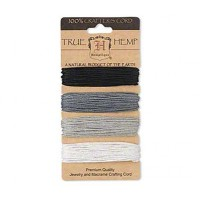 1mm Neutral Shades Multicolor Set Hemp Cord by Hemptique