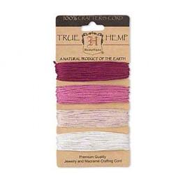1mm Ruby Shades Multicolor Set Hemp Cord by Hemptique