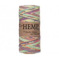 1mm Multicolor Rainbow Unpolished Hemp Cord by Hemptique