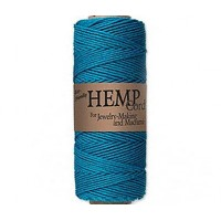 1mm Turquoise Blue Polished Hemp Cord by Hemptique
