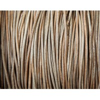1mm Natural Color Round Leather Cord, Sold by Yard