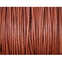 1mm Natural Turkey Red Round Leather Cord