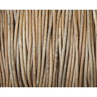 2mm Natural Color Round Leather Cord