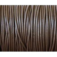 2mm Chocolate Round Leather Cord