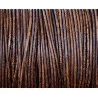 2mm Natural Red Brown Round Leather Cord, Sold by Yard