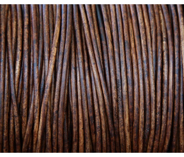 2mm Natural Red Brown Round Leather Cord
