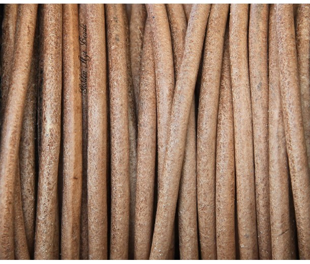 3mm Natural Color Round Leather Cord
