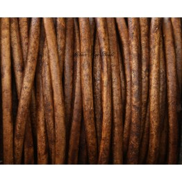 3mm Natural Light Brown Round Leather Cord