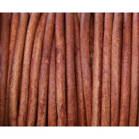 3mm Matte Turkey Red Round Leather Cord