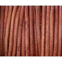 3mm Matte Turkey Red Round Leather Cord