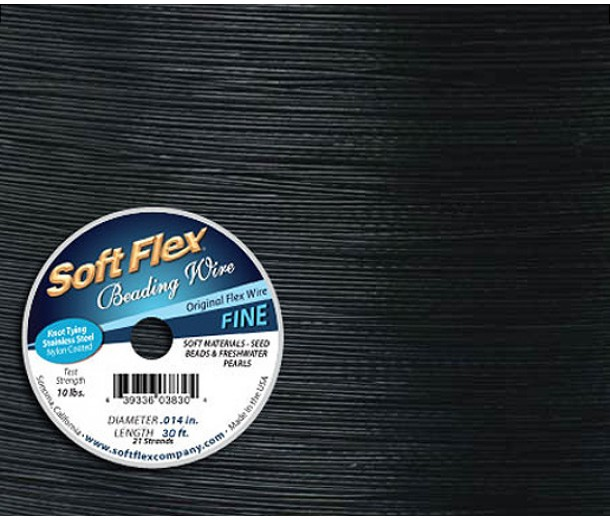 .014 Black Soft Flex® Beading Wire