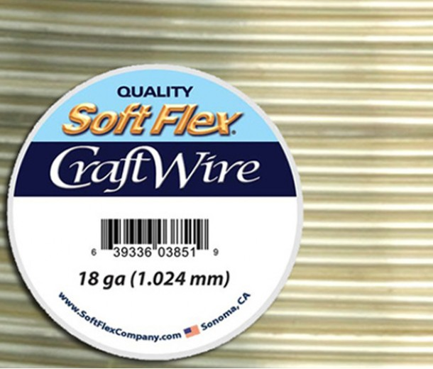 18 Gauge Non-Tarnish Silver Soft Flex Craft Wire, 20 Ft Spool