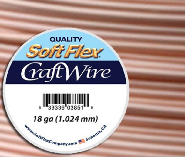 18 Gauge Silver Plated Rose Gold Soft Flex Craft Wire, 20 Ft Spool