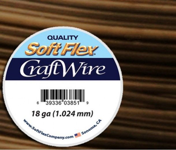 18 Gauge Vintage Bronze Soft Flex® Craft Wire, 7 Yard Spool