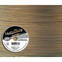 .019 Antique Brass Soft Flex® Metallics Wire, 30 Foot Spool
