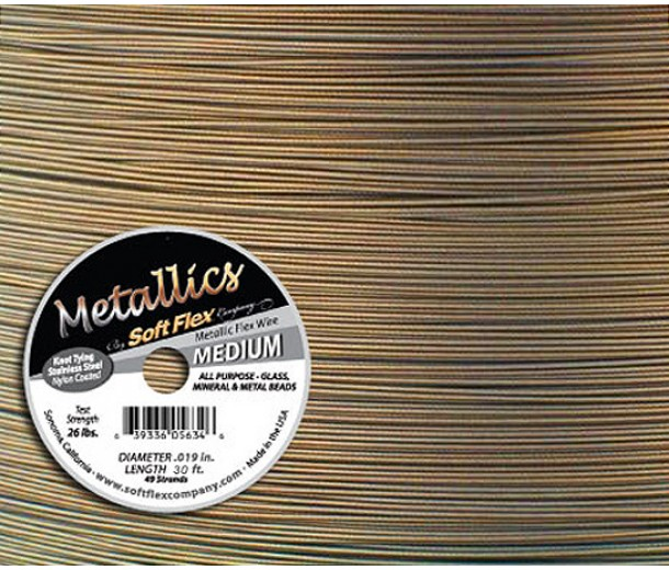 .019 Antique Brass Soft Flex® Metallics Wire